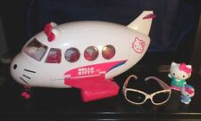 2012 Hello Kitty JET AIRPLANE w/1 Figure + HK Sunglasses & McDonald's HM Toy Lot