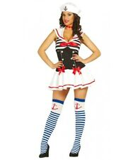 Womens Sexy Sailor Fancy Dress Costume Ladies Navy Uniform Sailor Pin Up Outfit