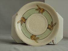 Vintage Roseville Pottery Juvenile Lot of 5: 1 Saucer, 3 Plates, & 1 Dish