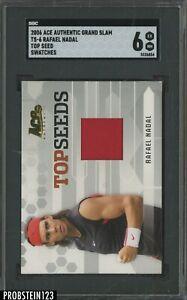 2006 Ace Authentic Tennis Grand Slam Top Seed Rafael Nadal Jersey SGC 6 EX-MT