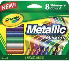 Crayola Metallic Markers 8 ea (Pack of 3)