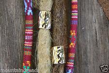 4 Large Hole Golden Alloy Dreadlock Beads 9mm (3/8 Inch) Hole Dread Hair Beads