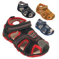 Boys Sports Sandal Kids Children Summer Walking Holiday Beach Touch Strap Shoes