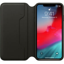 Custodia cover vera pelle flip case Leather Folio ORIGINALE Apple iPhone XS MAX