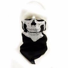SET OF 4 Skull Face 100% Cotton Bandanna Ski Biker Paintball Mask Warmer