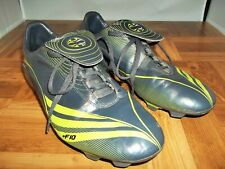 6ffd7f83a53 Adidas Men s +F10 TRX FG 011766 Grey Green Soccer Cleats Size 8.5
