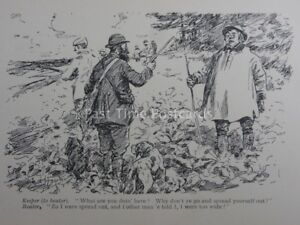 Gun & Game KEEPER TO BEATER - WHAT ARE YOU DOING HERE? Antique Punch Cartoon