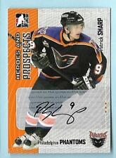 PATRICK SHARP 2005 IN THE GAME HEROES AND PROSPECTS RC AUTOGRAPH CARD #A-PS AUTO