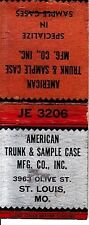 American Trunk & Sample Case 3963 Olive St. Louis Missouri MO Old Matchcover
