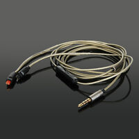 Silver Plated Audio Cable with Mic For Audio Technica ATH-IM01 IM02 IM03 IM04