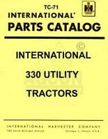 International 330 Utility Parts Catalog Manual IH