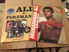 "Vintage 1970's Muhammad Ali Magazine's ""Ali vs Foreman� & ""In His Own Words�"