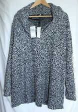 CABLE & GAUGE WOMEN'S 1X BLACK IVORY SWEATER NEW WITH $68 TAGS