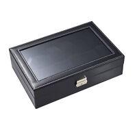 Uhrenaufbewahrung mit Sichtfenster 12 Uhren | Uhrenkasten | Uhrenbox Uhrenkoffer