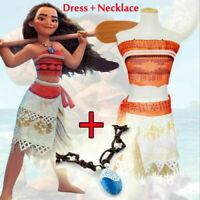 Moana Costume Polynesia Princess Skirt Dress For Women & Girl Cosplay Halloween