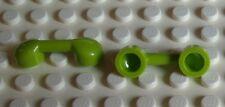 Lego 2x Telefonhörer grün lime (6190) Neu Radio Handle, Phone Handset