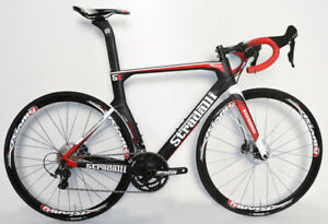 STRADALLI CARBON FIBER DISC BRAKE AERO ROAD BIKE BICYCLE SHIMANO ULTEGRA RD 8000