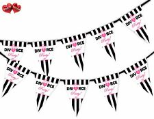 Divorce Party Themed Bunting Banner 15 flags - Stripes & Crown - by Party Decor