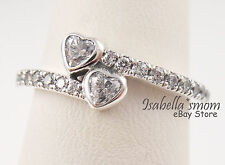 FOREVER HEARTS Genuine PANDORA Silver/Sparkling VALENTINE LOVE Ring 8.5 (58) NEW