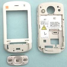 100% Original HTC Trinity Carcasa Frontal + teclado + botones Laterales Naranja SPV M700 Blanco