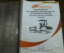Ingersoll Rand Dd138hfa Rc Vibratory Dual Drum Compactor Service Repair Manual