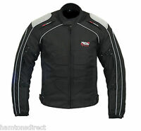 Mens Motorcycle Motorbike Jacket Waterproof Textile Cordura Black CE Armoured