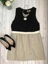 Next size 18 bnwt smart work office dress business career black beige