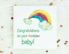 Congratulations Rainbow Baby Birth Card New Baby LGBT Pregnancy Boy Girl
