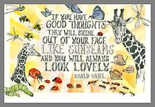 IF YOU HAVE GOOD THOUGHTS THEY WILL SHINE OUT OF YOUR FACE JUMBO FRIDGE MAGNET