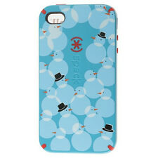 Speck Limited Edition Holiday CandyShell Case Cover Snowman iPhone 4 - BLUE