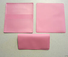 1 NEW PINK VINYL CHECKBOOK COVER WITH DUPLICATE FLAP CHECK BOOK COVERS