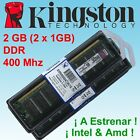 Memoria RAM Kingston 2GB (2 x 1GB) DDR 400 - 2uds - ¡ NUEVAS !