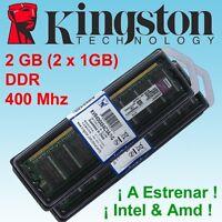 1GB DDR Memoria RAM - 400 Mhz (PC3200), DDR1 184-pin - PC Desktop- NON ECC - 2GB