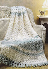 Crochet Pattern ~ Mint Frosting Afghan ~ Instructions