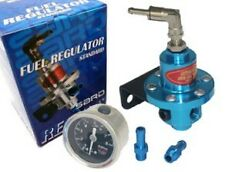Regulateur de pression essence genre Sard avec manometre de couleur BLEU Tuning