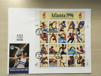 #3068 32 cent Olympics Atlanta full sheet of 20 FIRST DAY COVER FDC Fleetwood