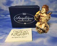 "Harmony Kingdom Angelique ""La Gardienne"" Angel Box Figurine ANSE98 w/ BOX GUC"