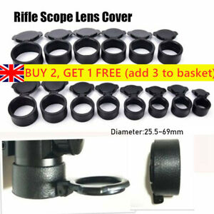 Flip Up Lens Cover Cap Scope Telescopic Sight Objective Lense Lid All Size*