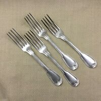 Christofle Chinon Table Forks Silver Plate Antique French Cutlery Set Flatware
