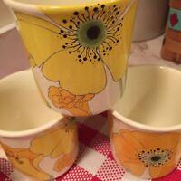 70s Vintage Metlox Vernon Poppytrail Wild Poppy Coffee Mugs Set Of Four