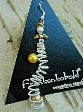 woelke design © witzige schutzengel ohrringe bicolor silber 925