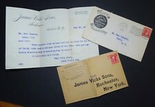 LOT Advertising Covers & Letterhead Unused Rochester NY 1905 James Vick's Seeds