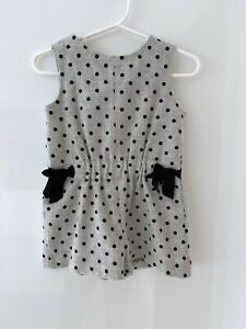 Zara Baby Girl Grey And Black Spot Playsuit Size 9-12 Months