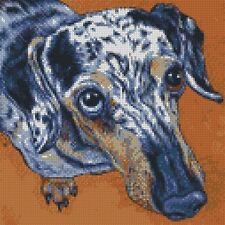 Cross Stitch Chart - Kit Dapple Miniature Dachshund Dog
