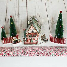 Dept 56 North Pole Sweet Rock Candy Co 56725 Road Trees House Elves Gift Set