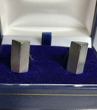Vintage/Deco Solid Silver Cufflinks Heavy Franz Scheurle Prism Bullet Back Boxed