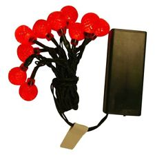 ProductWorks UltraLED Battery Op Twinkle 10 Light String, Red Raspberry 3.5 ft