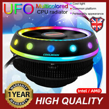 Universal LED Cooling Fan RGB UFO CPU Cooler Radiator 115X 775 For Intel AM W8M0