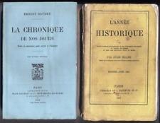 La chronique de nos jours (anecdotes vers 1880-1900) + l'année historique 1861