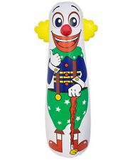 42'' H Inflatable Punching Bag Clown Includes repair kit for tears or punctures